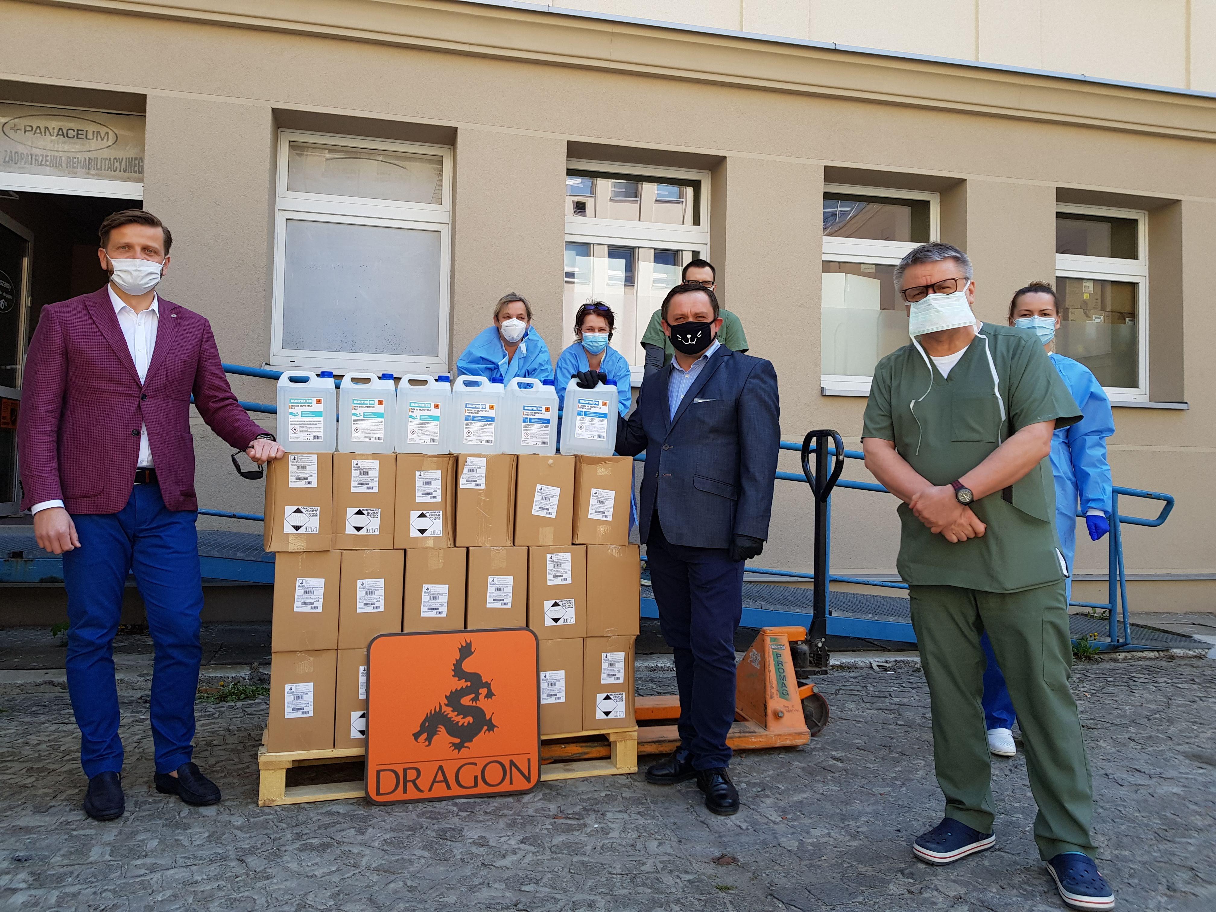 Darowizna dla Szpitali w Krakowie - Środki do dezynfekcji DRASEPTAN